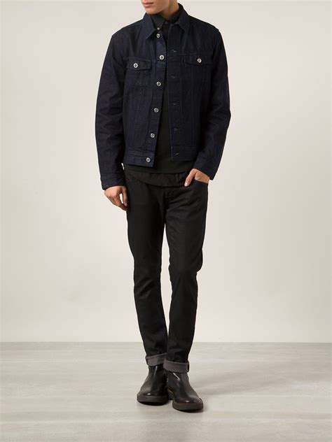 Denim Jackets For by A P C Denim Jacket In Blue For Lyst