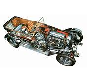 98 Classic Cars Technical Cutaway Wallpaper  3200x2000