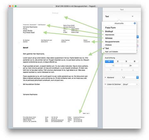 Muster Einladung Din 5008 pages norm din 5008 brief vorlage numbersvorlagen de