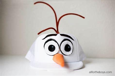 diy olaf hat rundisney costume    boys