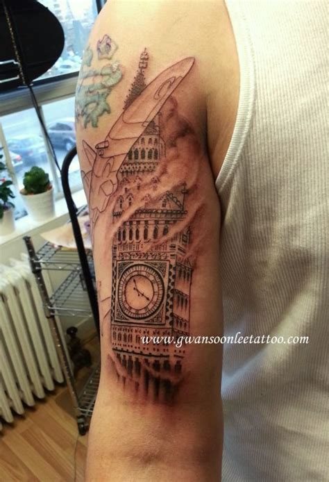 tattoo arm gets bigger big ben clock tattoo on arm gwan soon lee tattoos