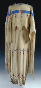 752 native american buckskin dress with beadwork toget