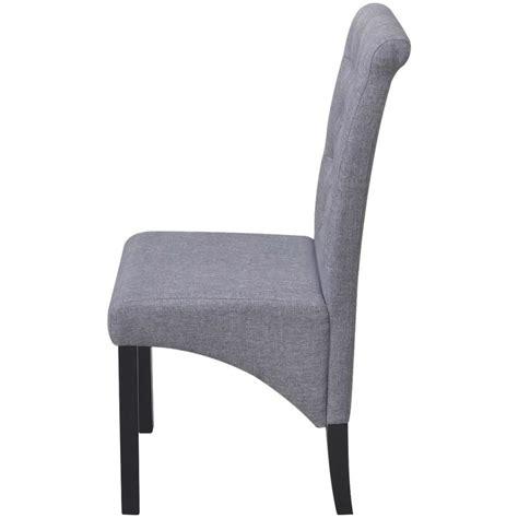 rivestimenti sedie tessuto 4 sedie da pranzo in tessuto rivestimento grigio scuro