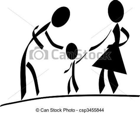clipart famiglia famiglia felice tutto family isolato stilizzato