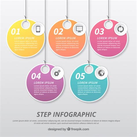 Infographic Template With Label Design Vector Free Download Graphic Design Templates Free