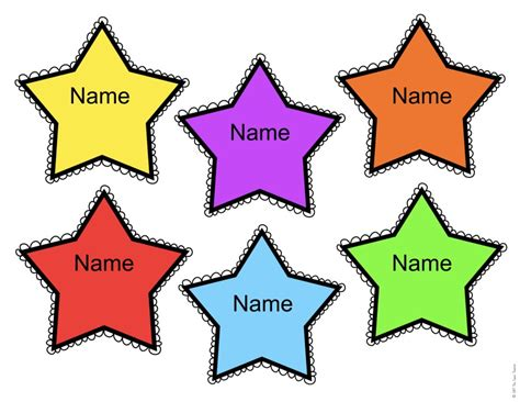 printable star tags free editable star name tags the super teacher