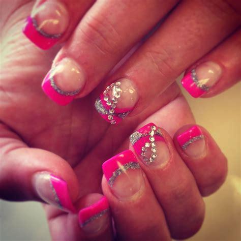 pink glitter  rhinestone  solar set beautiful job