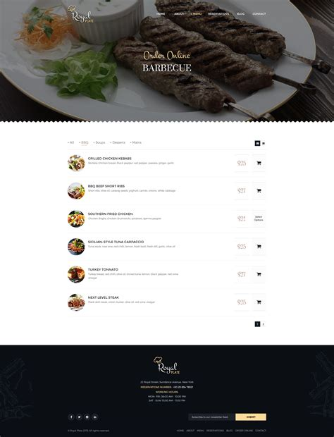 subcategory template royal plate restaurant catering psd template by pixel