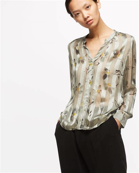 Aster Blouse floating aster silk blouse jigsaw