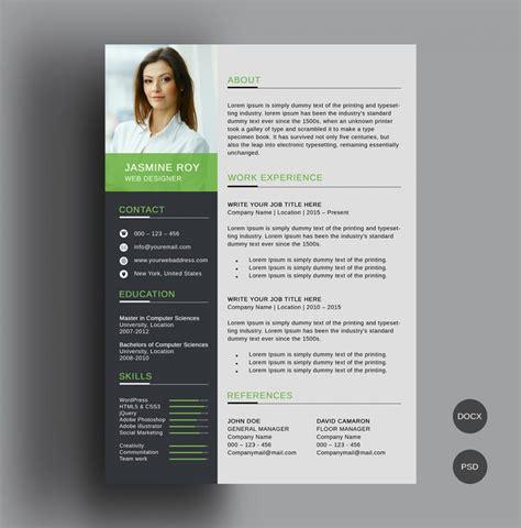 52 modern free premium cv resume templates