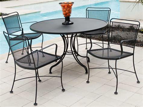 Iron Patio Dining Set - woodard constantine wrought iron dining set conds