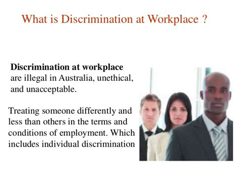 types of workplace discrimination with exles autos post