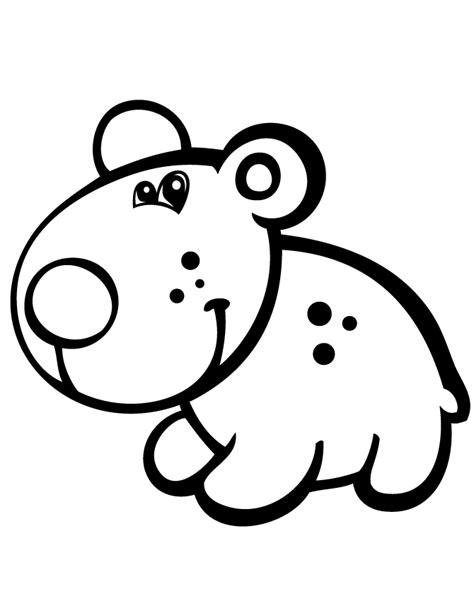 cute coloring pages for preschoolers cute bear for preschool children coloring page h m