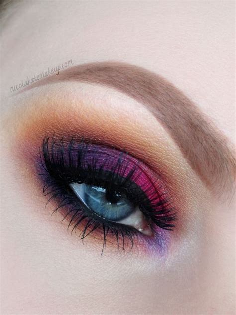 dramatic purple eyeshadow mua picmia