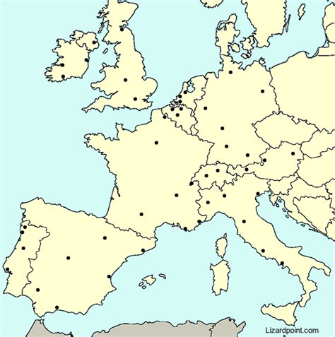 major world cities map quiz test your geography knowledge western europe major