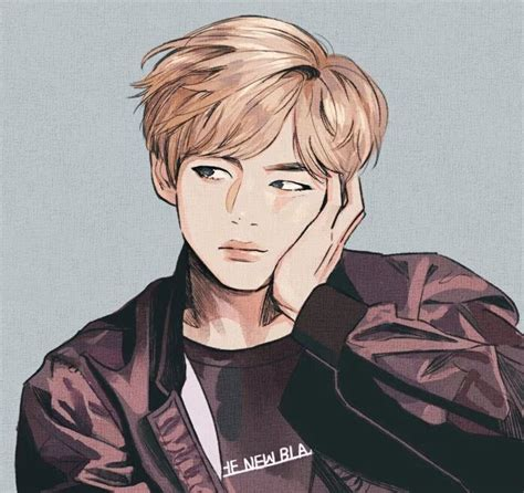 V Anime Fanart by 580 Best Bts Fanart Images On Drawings