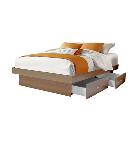 Platform With Drawers size platform bed with 4 drawers contempo space