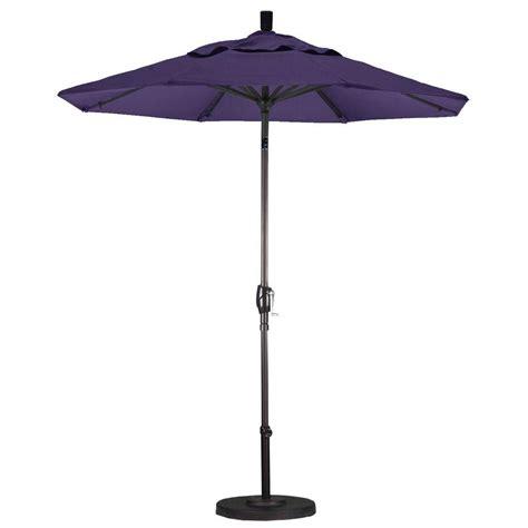 California Umbrella 7 1 2 Ft Fiberglass Push Tilt Patio Purple Patio Umbrella
