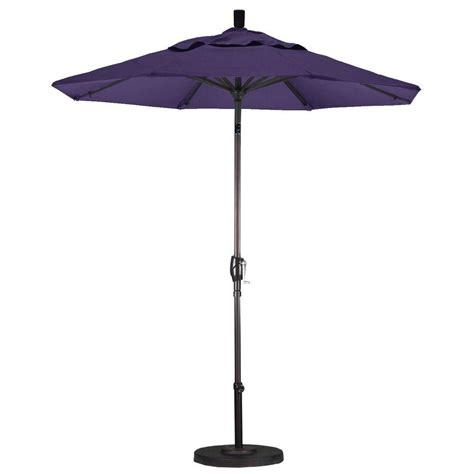 Fiberglass Patio Umbrella California Umbrella 7 1 2 Ft Fiberglass Push Tilt Patio Umbrella In Purple Pacifica Gspt758117