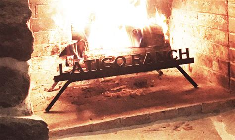Custom Fireplace Grate by Custom Personalized Fireplace Grate