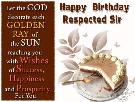 greetings for happy birthday respected sir wishes happy