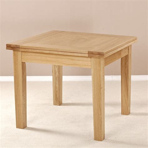 square expanding table milano solid oak square flip top extending dining table