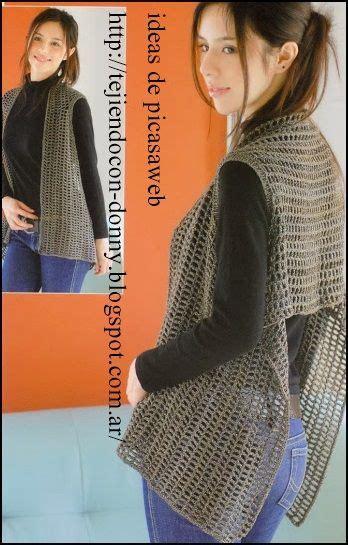 chaleco rectangular a crochet las 25 mejores ideas sobre chalecos tejidos en pinterest y
