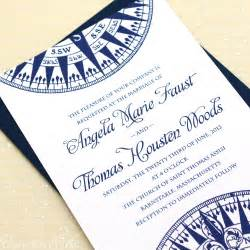 compass wedding invitations sample navy by concertinapress