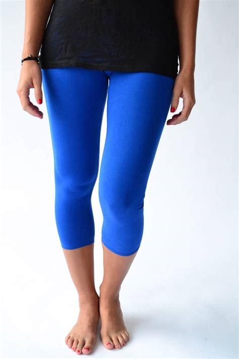 plus size light blue leggings plus size capri nylon leggings xl 1x 2x light weight tight