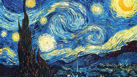 Vincent Van Gogh Starry Night Wallpaper 1366x768 Click Starry Vincent