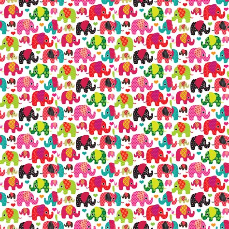 cute elephant pattern cute cartoon elephant wallpaper wallpapersafari