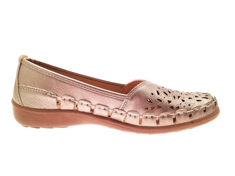 comfort loafers womens faux leather comfort loafers cut out shoes casual
