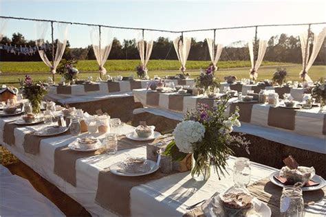Wedding Table Decorations With Burlap by Burlap Wedding Table Center Pieces Trees N Trends