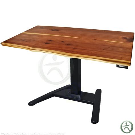 sit stand desk wood shop uplift 970 solid wood pedestal stand up desks