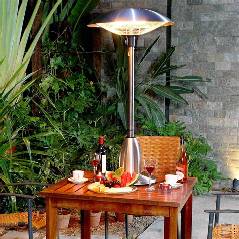 mountain electric halogen table top patio heater ebay