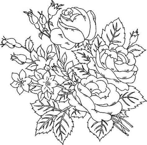 hard rose coloring pages flower coloring pages for adults little bit difficult