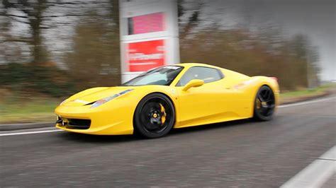 Ferrari 458 Spider Yellow by Yellow Ferrari 458 Spider W Sport Exhaust Pipe Youtube