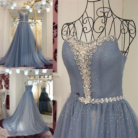 G534 Dress C 185 Hitam dusty blue prom dress tulle prom dress prom