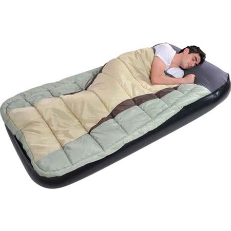 jilong jl027008n size air bed with sleeping bag walmart