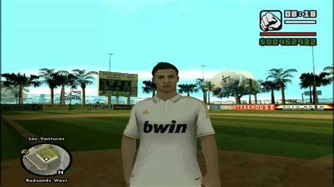 mod gta 5 cristiano ronaldo skin de cristiano ronaldo soccer mod para gta sa youtube