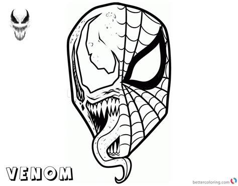 printable venom mask venom coloring pages spiderman x venom mask free