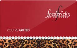 frederick s of hollywood gift card discount - Fredericks Gift Card