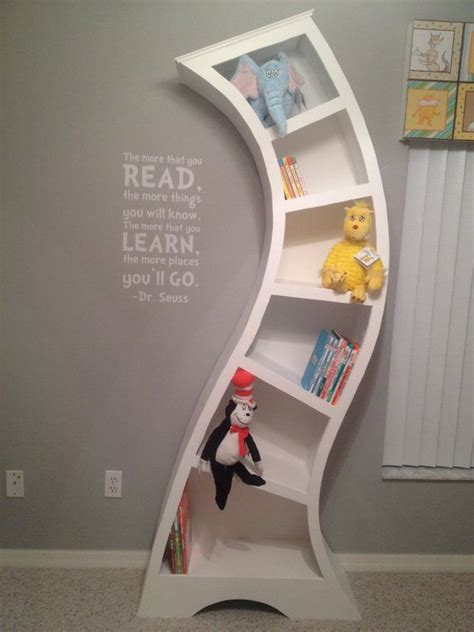 Dr Seuss Book Shelf by Dr Seuss Wooden Unique Whimsical Custom Bookcase Shelf