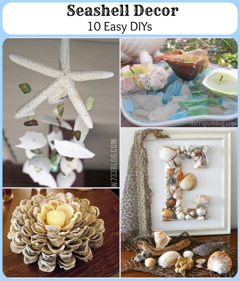 seashell home decor seashell decor 10 easy diys