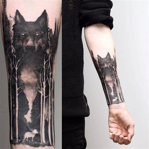 baum 196 rmel tattoo designs f 252 r m 228 nner wolf negativen raum