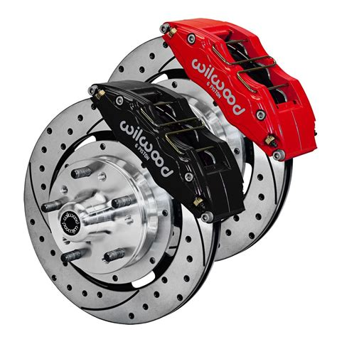 Disc Brake Front wilwood mustang front disc brake dynapro 6 piston 12 19 quot 65 69