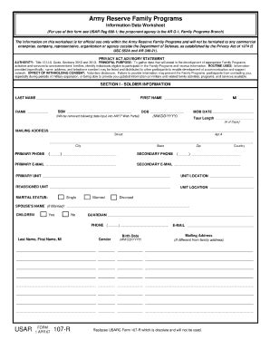 cercla section 107 2007 form usar 107 r fill online printable fillable