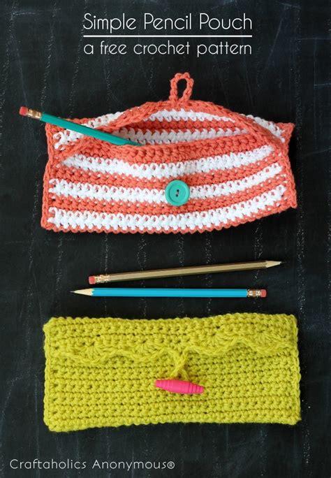 pattern crochet pouch crochet pencil pouch pattern