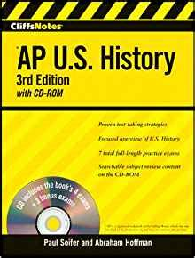 ap us history books to read cliffsnotes ap u s history with cd rom 3rd