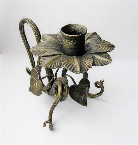 candelieri in ferro battuto forgiato fiore candela titolare candeliere ferro candela